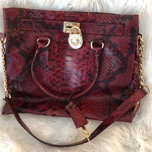 Michael Kors Hamilton Bag - Snakeskin